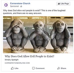 Church facebook ad millennial focus group ad