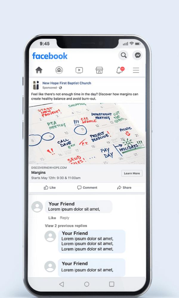 Sermon Series Facebook Ad Example