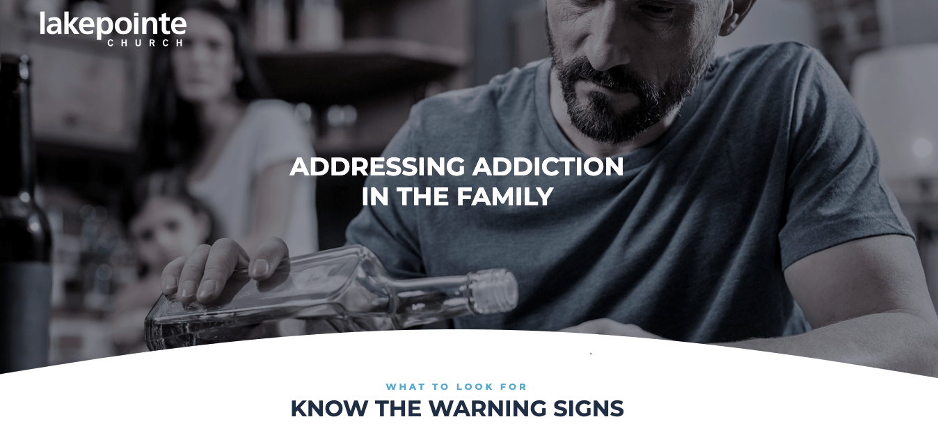 Example Addictions Landing Page