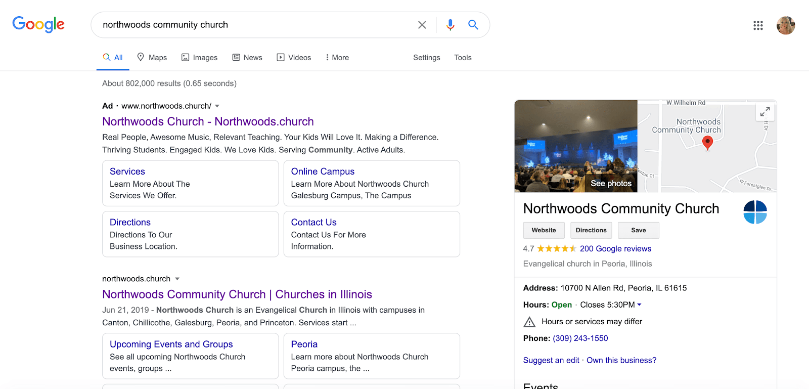 Google Knowledge Panel for Churches