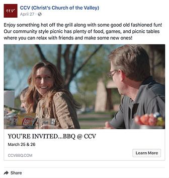 Facebook Click-through Rate example 2