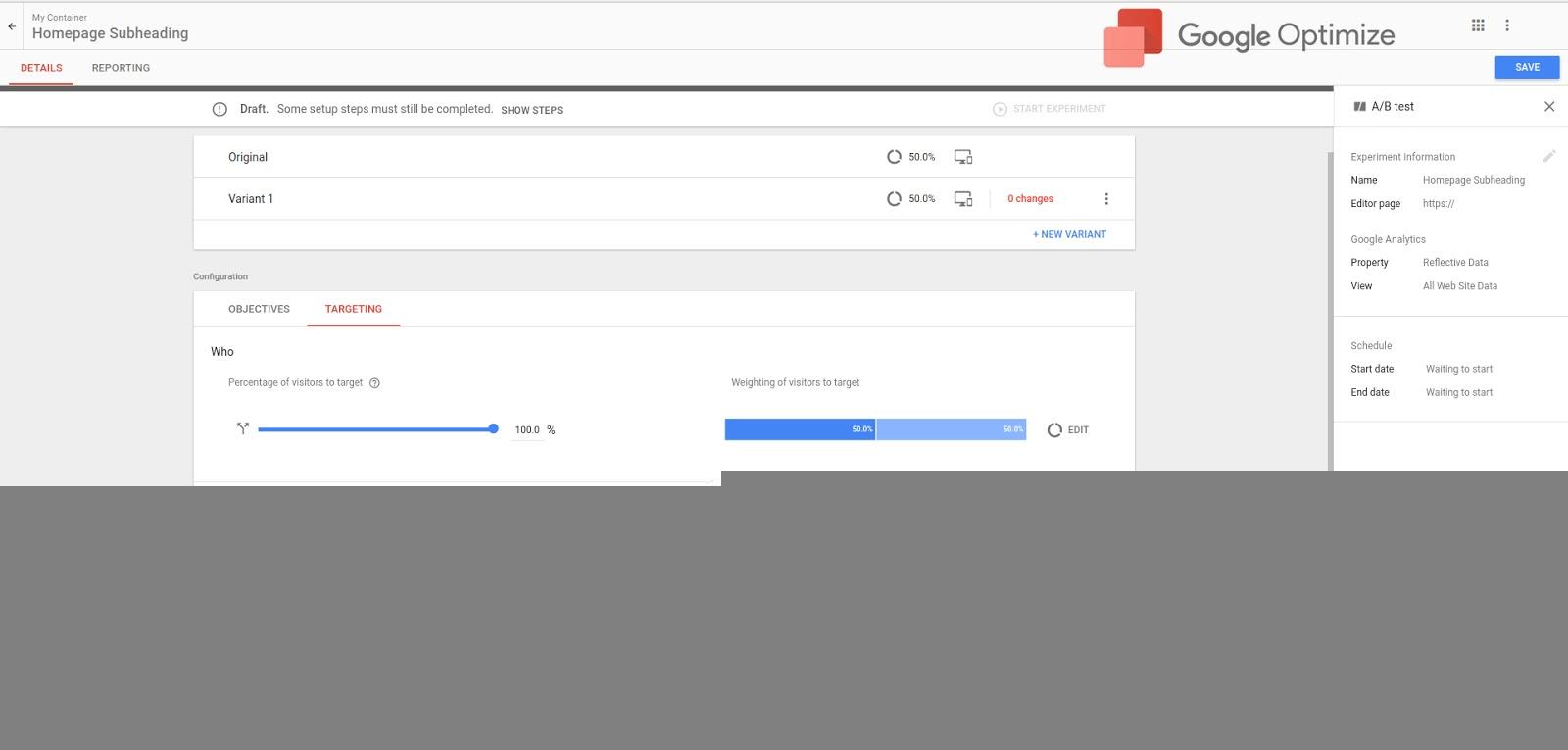 Google Optimize for Churches