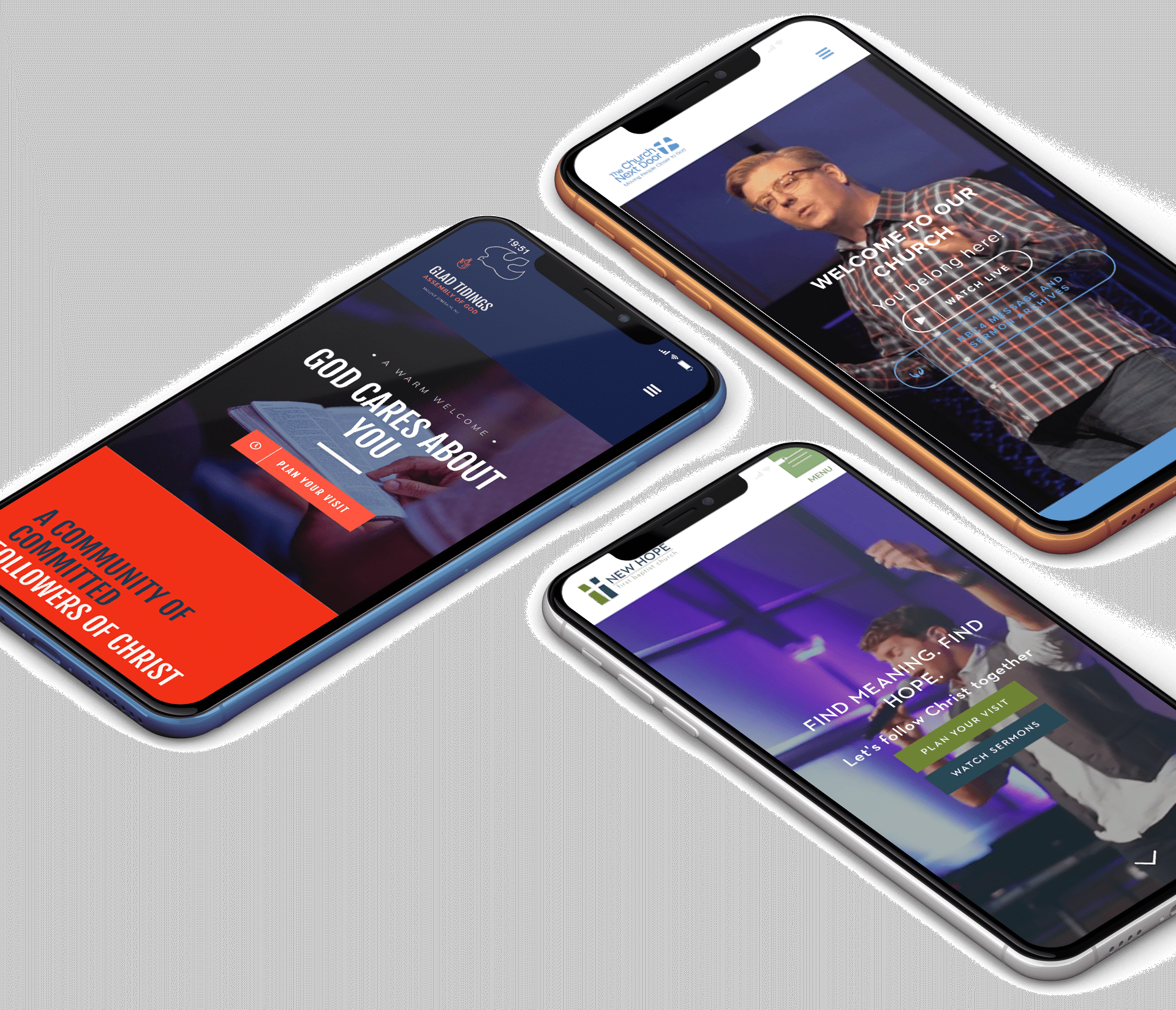 Mobile Church Website Examples