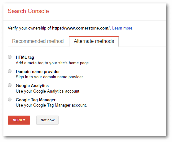 Google Church Search Console