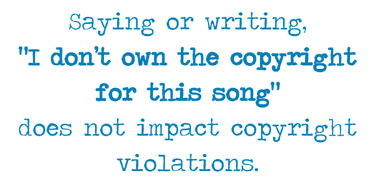 church copyright issues