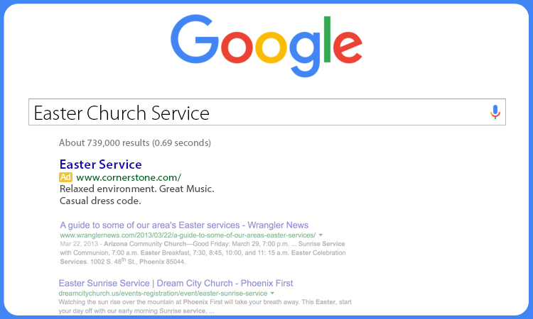 church online easter advertising