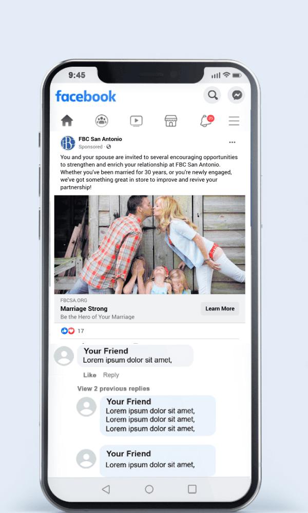 Marriage Course Facebook Ad Example
