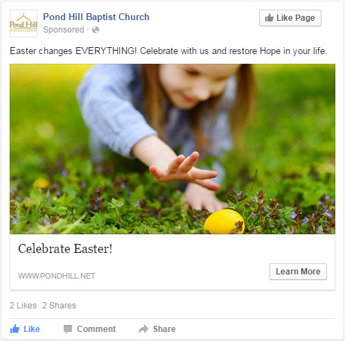 easter church facebook advertising